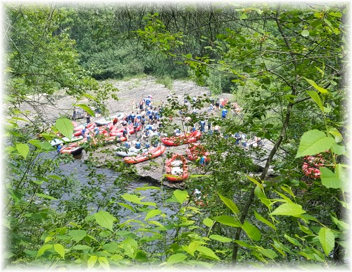 Rafts in Lehigh River 7/22/17