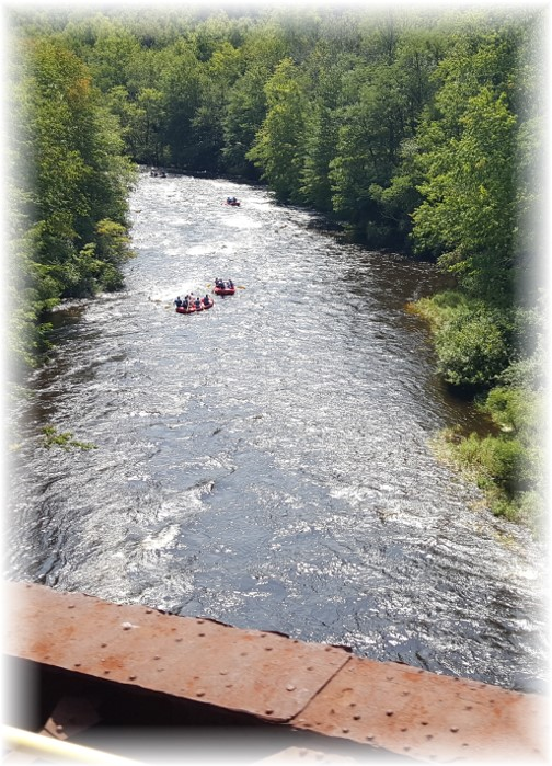 Rafts on Lehigh River from train 8/26/17