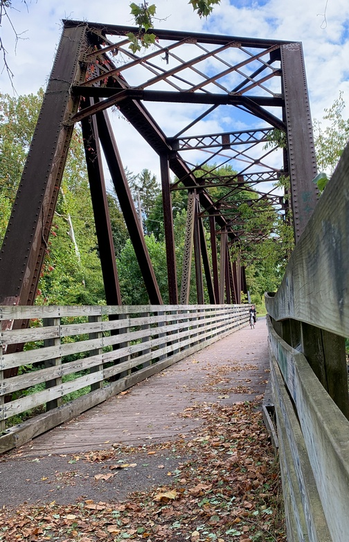 Lycoming Creek rail trail bridge