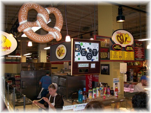 Miller's Twist Pretzel Stand at the Reading Market, Philadelphia, PA
