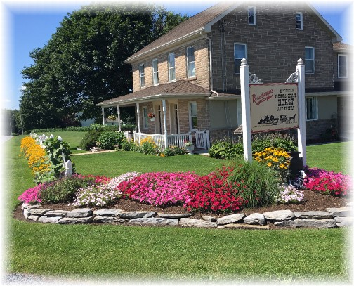 Farmhouse and flowers near Myerstown, PA 7/9/17