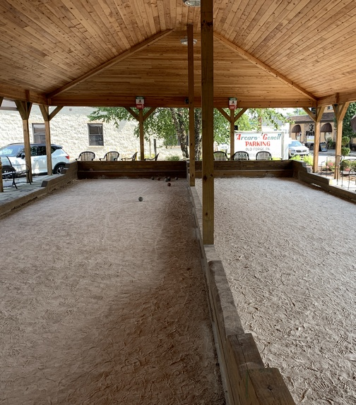 Arcaro and Genell Old Forge Pizza bocce court