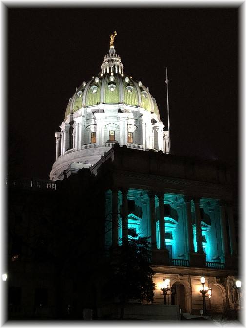 PA state capitol at night 4/6/18