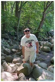 Pat at Ringing Rocks Park