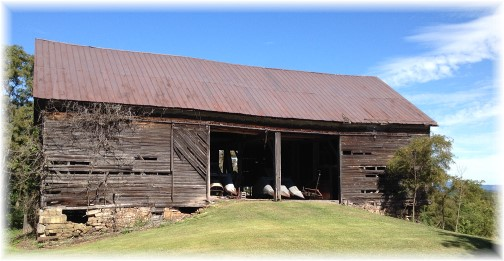 Pennsylvania mountain barn 9/7/14