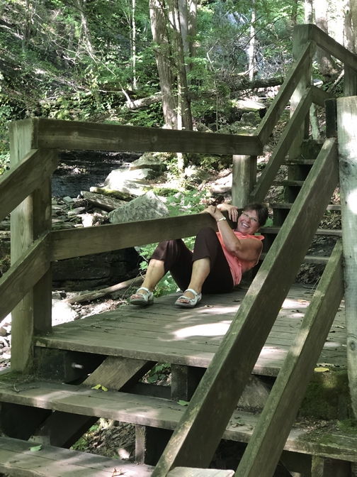 Turkey path on Pine Creek rail trail