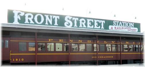 Railroad car diner, Northumberland, PA