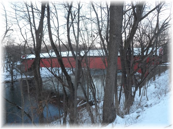 Red Covered Bridge in Berks County, PA 12/16/13
