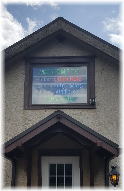 Ricketts Glen Hotel, Ricketts Glen State Park 6/28/17