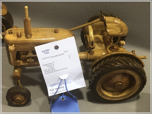 Schuylkill County Fair wood-carved tractor 7/31/18