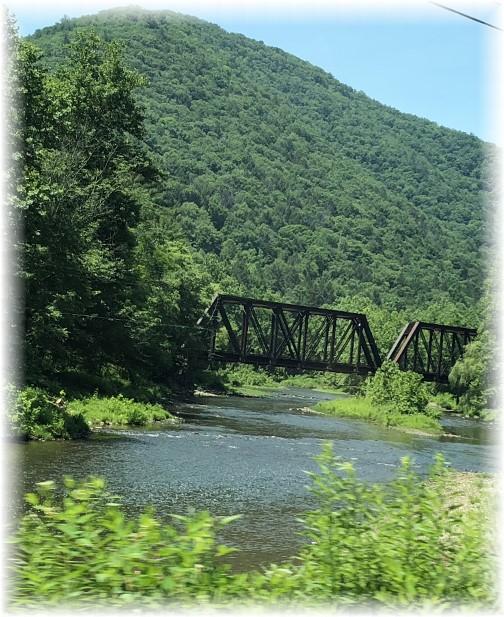 Sinnemahoning Creek railroad bridge 7/1/18