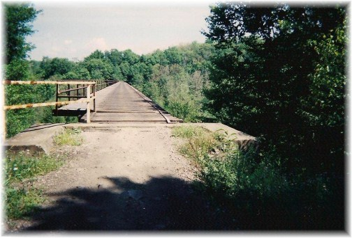 Approach to Snowshoe rail to trail bridge