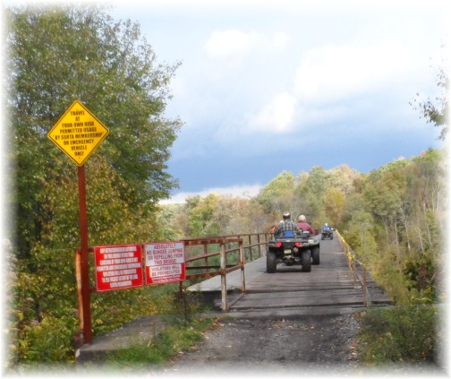 Snowshoe ATV trail bridge