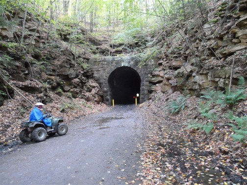 Snowshoe ATV tunnel