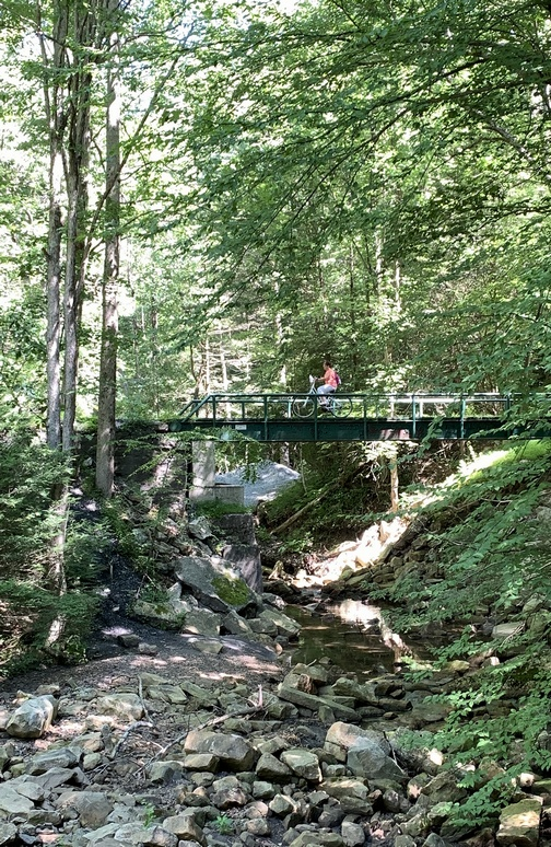 Stony Valley railroad trail bridge
