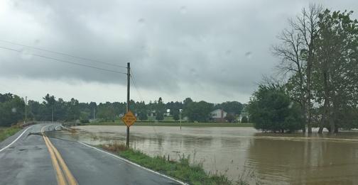 Flooded road near Little Swatara Creek 7/8/19 (Phil Huber)