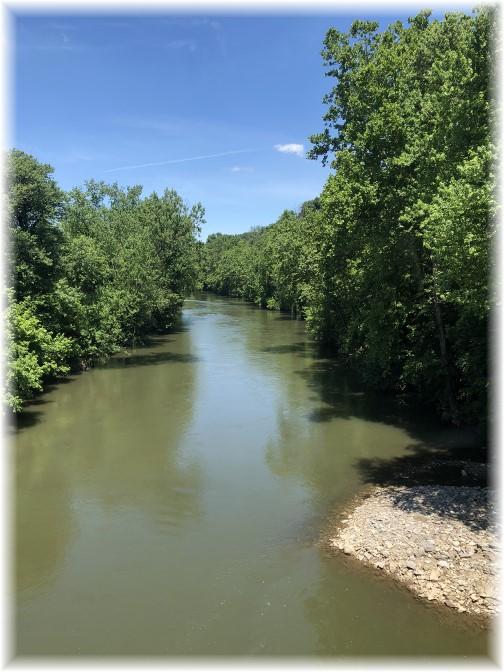 Swatara Creek from M&H railroad bridge, PA 6/16/18