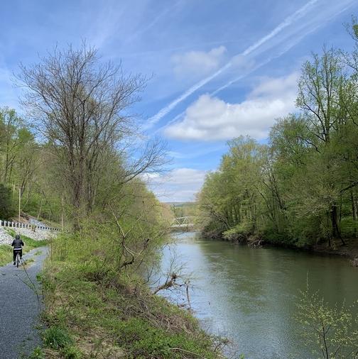 Swatara Creek along Swatara rail trail, Lebanon County, 4/30/19 (Click to enlarge)