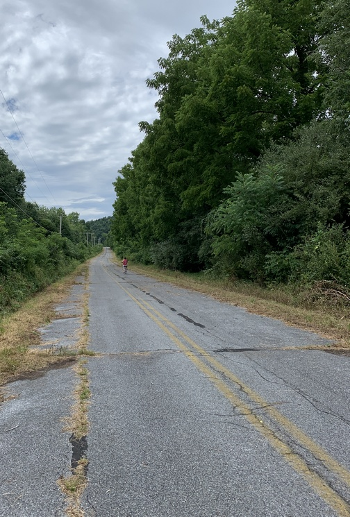 Abandoned Road section of the Swatara Rail trail 7/28/20