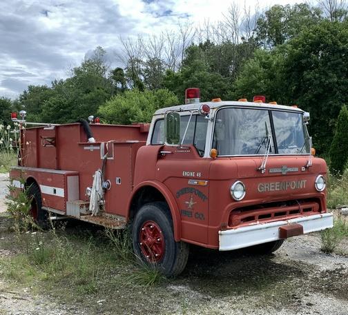 Greenpoint fire truck on Swatara Rail trail 7/28/20