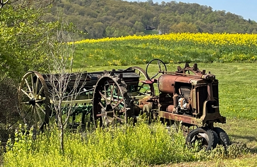 Blue Mountain abandoned tractor