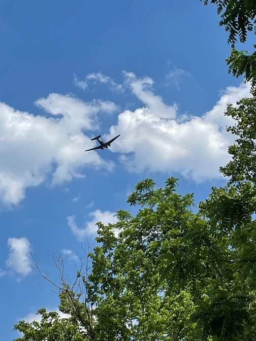 Air show from bike ride