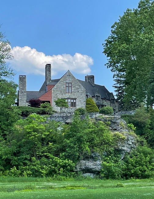 Mansion built on rock near Union Canal