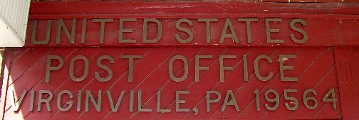 Virginville, PA post office sign 7/1/11