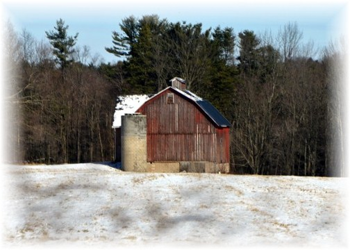 Winter barn (photo by Doris High)