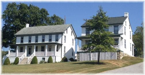 Farmhouses in York County along York Heritage Rail Trail 9/8/15