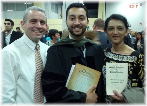 Richard Masciantonio with Rick and Liz at graduation 5/12