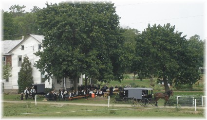 Amish dinner on the grounds