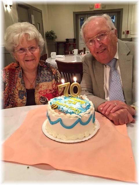 Ed and Gladys Berkey, 70th anniversary