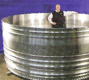 Bob Grant in jet engine fan casing