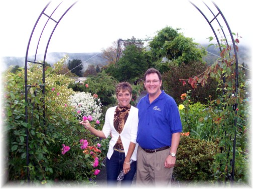 Rick nd Rachel at Bridge Of Flowers, Shelburne Falls, MA
