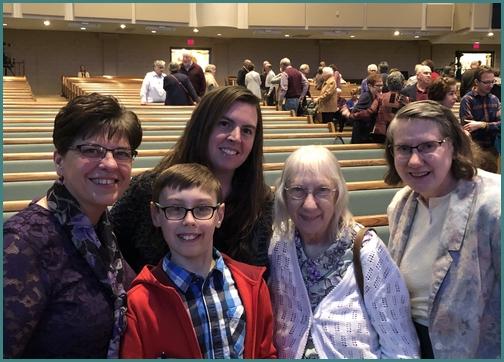 Pierce family with Brooksyne 3/24/19