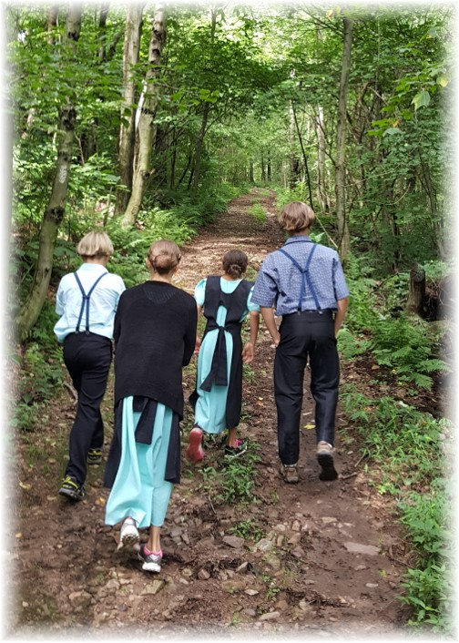 Children walking Appalachian Trail 7/25/17