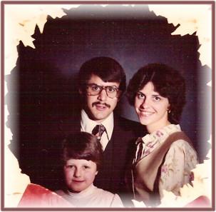 Christmas photo of the Weber family