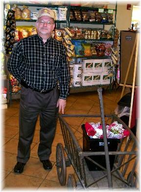 Chuck Shupp at S. Clyde Weaver store