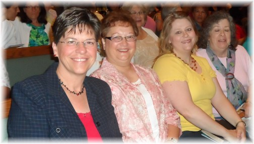 Church friends at Nancy Leigh DeMoss meeting 6/22/13