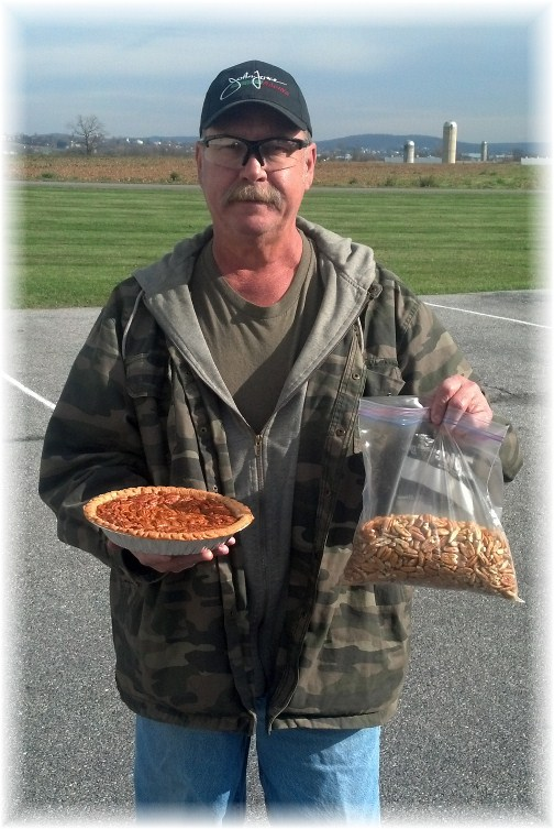 Darvin with pecans and pie