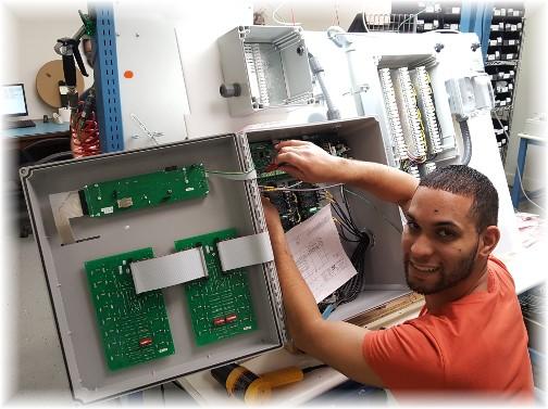 Dennis building Val-Co control panel