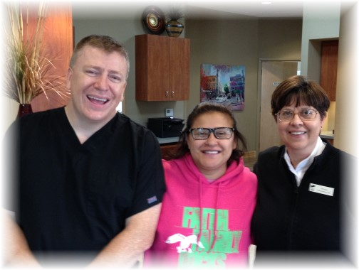 Dr. Dinse and Wendy Gambini 10/27/15