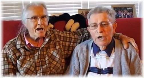 Jesse and Wilma Dourte singing 10/31/17