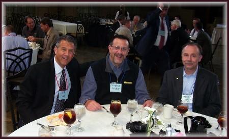 Ed Herr (left) at CBMC luncheon