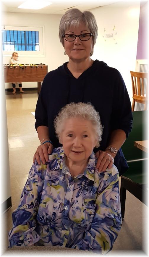Etta and daughter Linda 4/30/17
