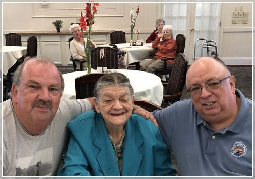Fred and Tom with their Mom 8/12/18
