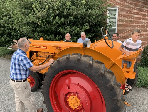 70 year old Galen with his 70 year old tractor 9/1/19