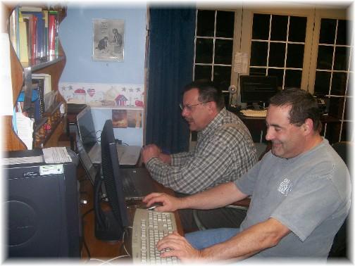 Geno tuning up computers 11/14/11