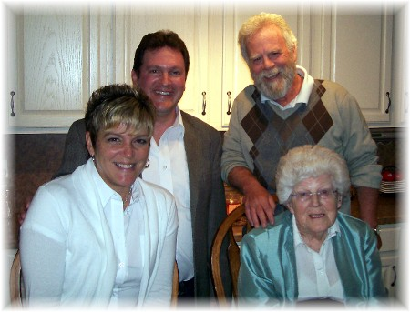 Rick & Rachel Caldwell (left), Rick Steudler and his mother Jeanette (right)